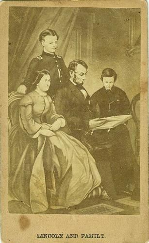 CDV photograph of President Abraham Lincoln and his family.
