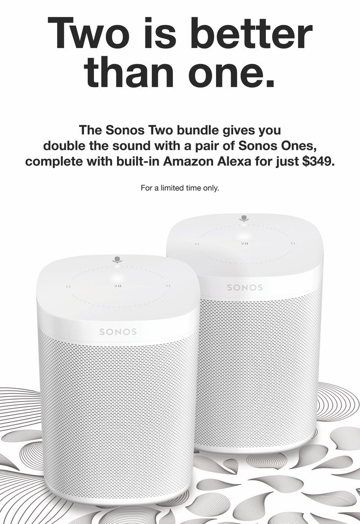 The Sonos Two bundle laughs in the face of the HomePod launch