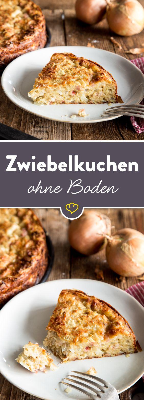 Saftiger Low-Carb-Zwiebelkuchen ohne Boden #glutenfreie