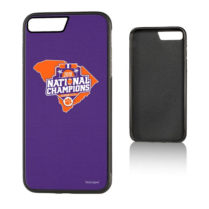 Clemson Tigers College Football Playoff 2016 National Champions iPhone 7 Plus State Design Bump Case