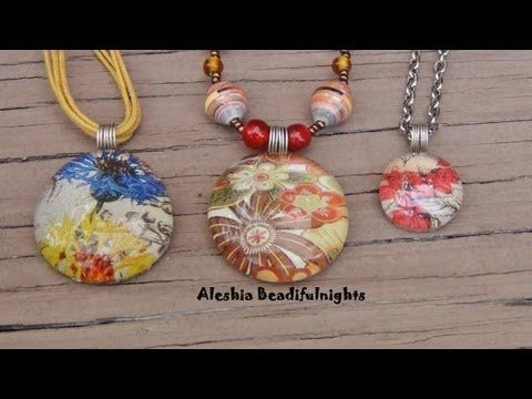 Friend me on facebook and show me what you made http://www.facebook.com/aleshia.beadifulnights    Materials needed:  flat back marbles  wire 24 gauge or 22 gauge  E-6000 glue  sealer- diamond glaze or clear nail polish  paper- scrapbook paper or magazine paper or sales adds or pictures    Tools needed:  scissors  chain nose pliers  round nose pliers  wire cu...