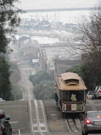 San Francisco, the hills really are as steep as this looks!