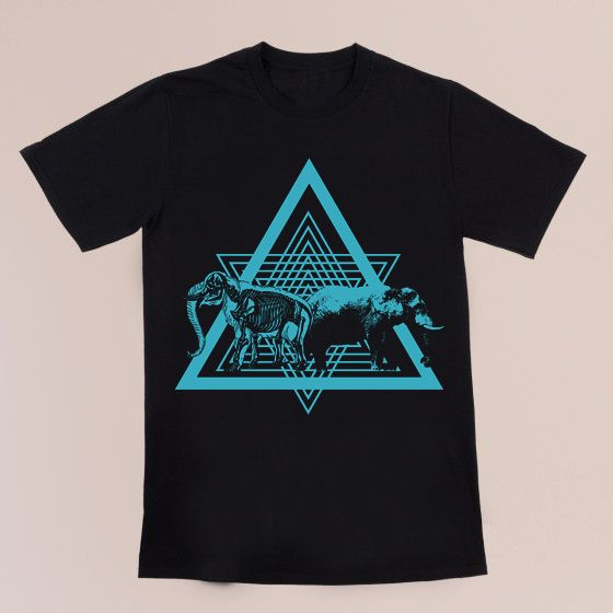 The inspiration behind our design is the evolution of the mammoth and how it becomes an elephant over the years. This design is big or (mammoth). The triangles represent the simplicity and give a balance to the T-shirt Shipping and Returns  Related