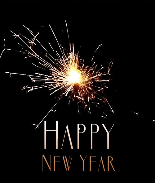 happy new year gold sparkler firework gif