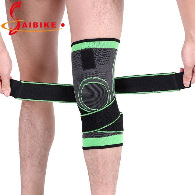 Saibike Weaving Pressurization Knee Brace Basketball Tennis Hiking Cycling Knee Support Professional Protective Sports Knee Pad Review Knee Brace Knee Support Knee Pads