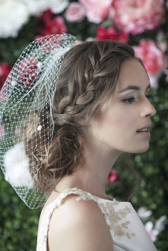 bridal birdcage veil birdcages Russian netting net dotted net