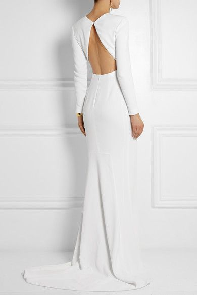 Stella McCartney - Renee open-back crepe gown