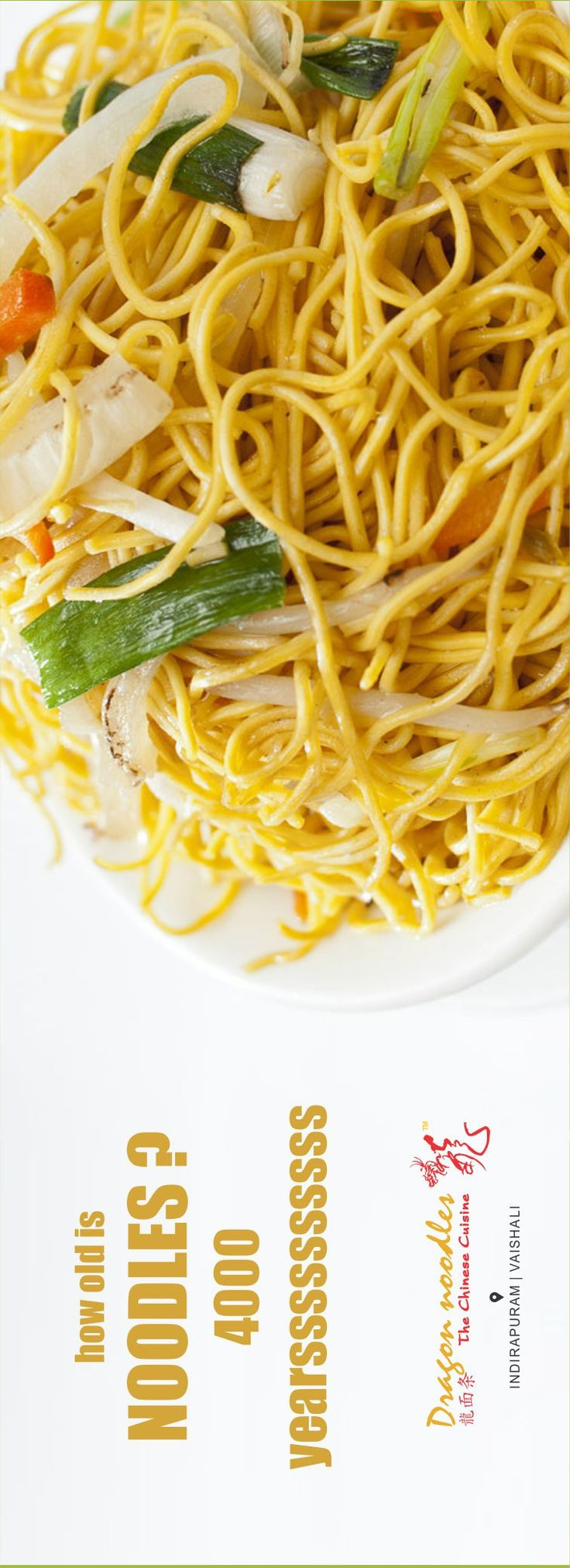 It has been 4000 years since our forefathers first tasted noodles in a province in China. #DragonNoodles #Chinese #Food #Ghaziabad #foodies