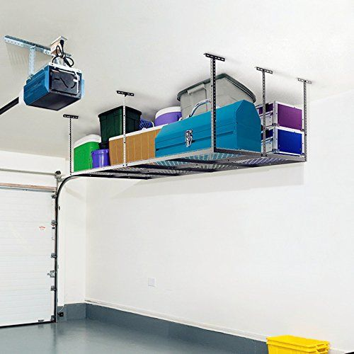 SafeRacks - 4x8 Overhead Garage Storage Rack Heavy Duty (24