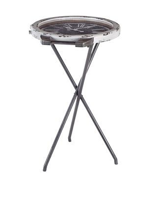 66% OFF Mercana Willis Clock Table, White/Gray