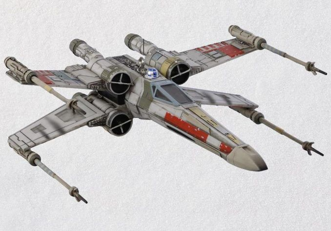 X Wing Starfighter Ornament With Light And Sound Star Wars Ships Design Star Wars Drawings X Wing Starfighter
