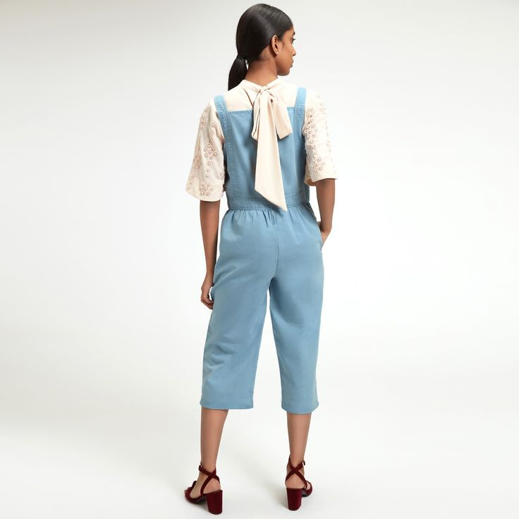 Chambray Culotte Jumpsuit | Buy Culotte Dungarees Online | Women's Dungarees