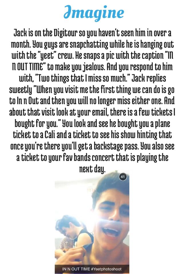 jack gilinsky imagine for hunny1031 imagines