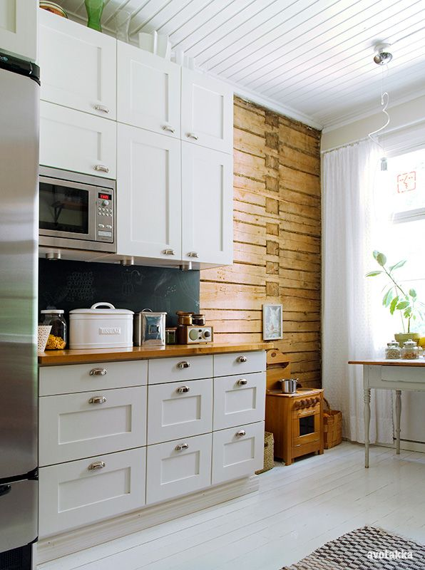 white/wood kitchen..