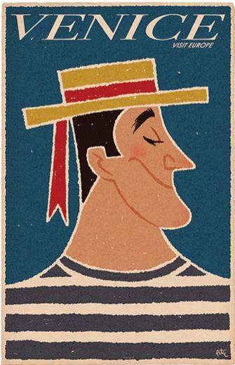 'Venice' Vintage Travel Poster