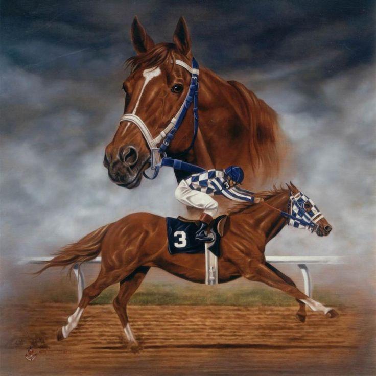Secretariat Horse | Portrait Painting in Oil - SECRETARIAT - Commissioned Equine Art Horse ...