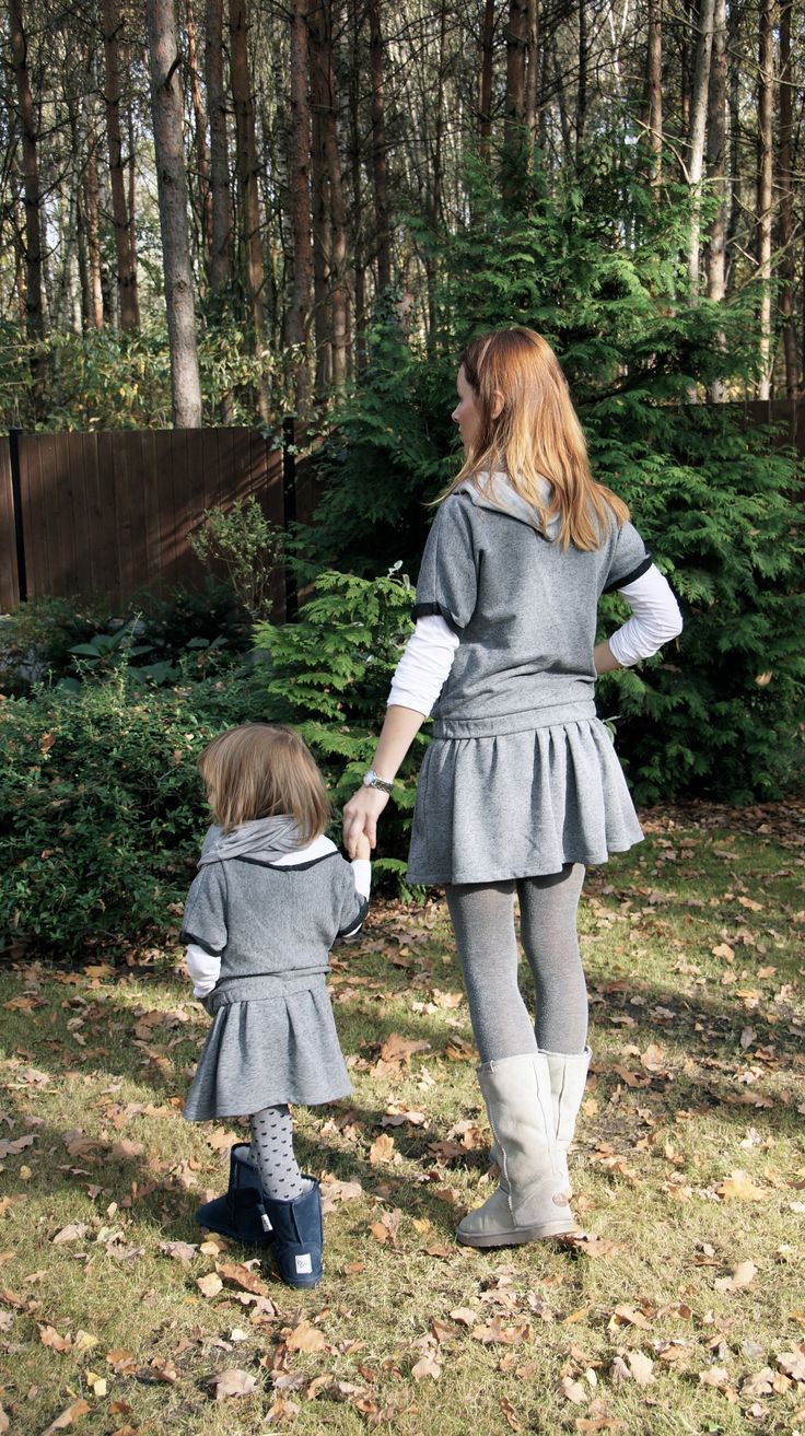 Mum and Daughter gray sets