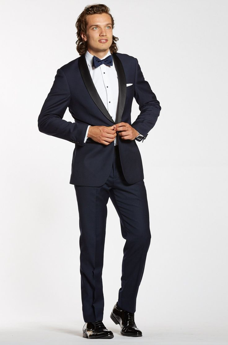 Premium Shawl Lapel Navy Tuxedo Jacket - The Groomsman Suit #mensfashion #weddingideas