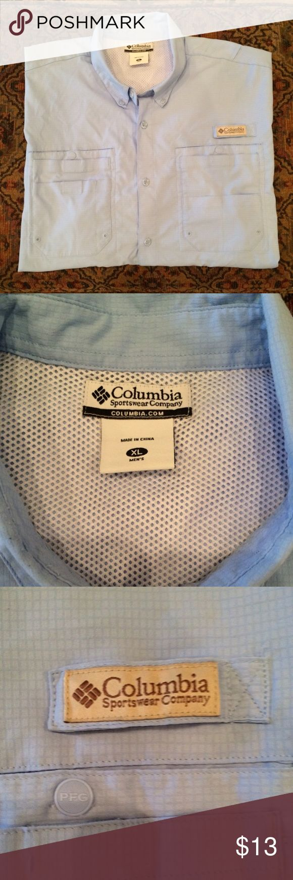 Men's Columbia PFG Shirt Excellent condition; light blue in color. Cheaper on Merc. Columbia Shirts Casual Button Down Shirts