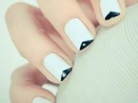 #Nailart #Matrimonio: trucchi e segreti per un perfetto #smalto da #sposa, #mani e #unghie da #cerimonia. > nail art geometrica bianco e nero
