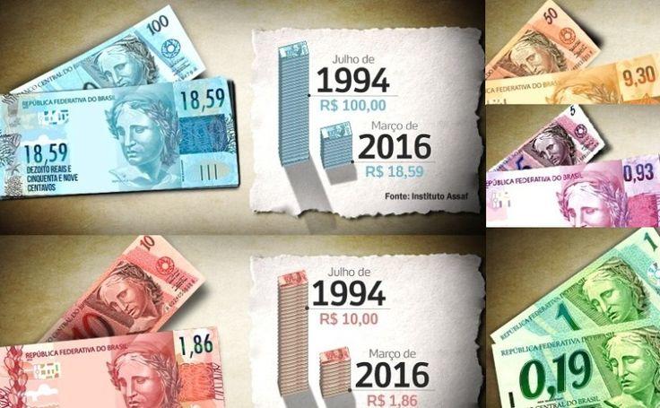 Inflação: Sabe quando vale hoje sua nota de R$100 do início do Real? Confere!