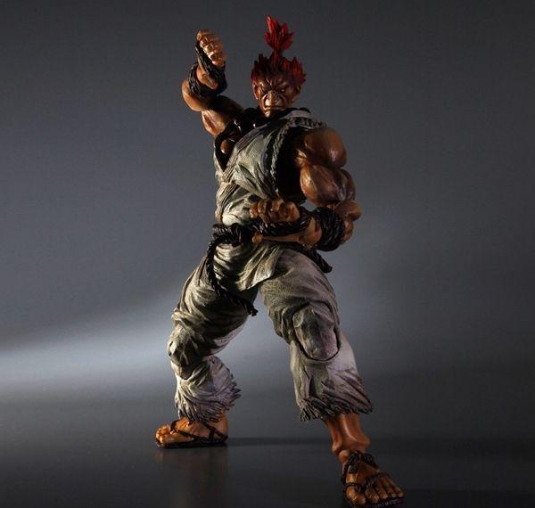 61.99$  Watch here - http://ali29n.worldwells.pw/go.php?t=32377622378 - Play Arts Street Fighter Figure Street Fighter 5 Gouki Akuma Figure PA 22cm PVC Action Figure Toys Play Arts Kai Figure