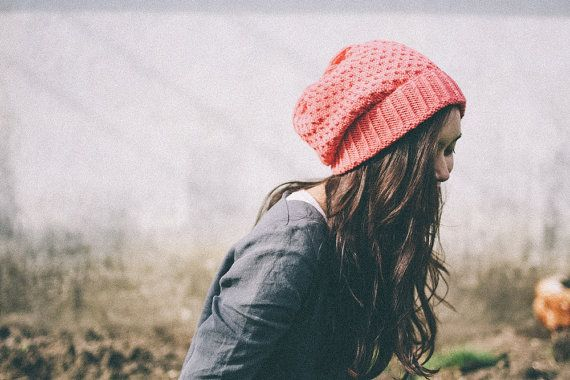 silje organic wool and cotton slouch knit  winter by HeyFreddie #beanie #handmade #hat #winter