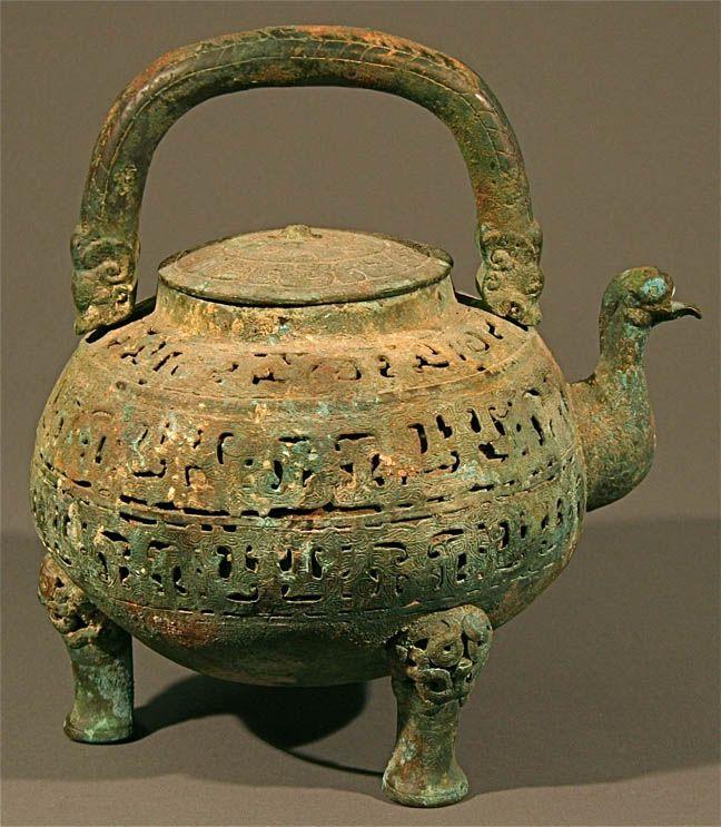 Ancient Chinese Bronze Teapot Hu Teapots Pinterest