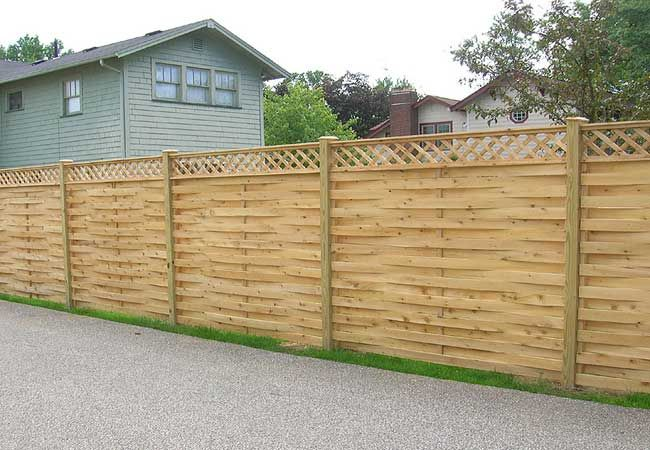 Basket Weave Fence In 2019 Wood Fence Design Modern