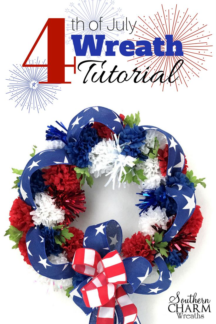 768 best USA Holiday Wreaths images on Pinterest | Crafts ...