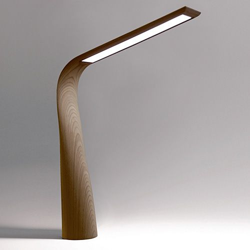 Moonbird - a luxurious LED desk lamp in walnut or wenge | lighting . Beleuchtung…