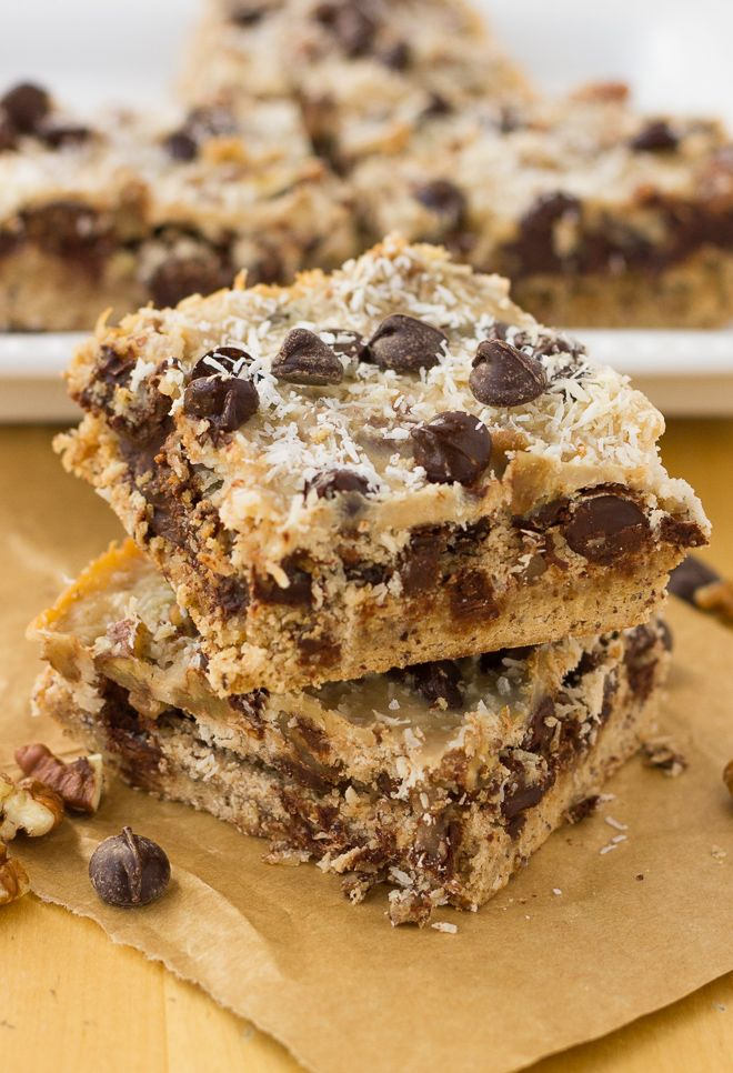 Grain-Free Magic Cookie Bars {Dairy-Free, Paleo} | Meaningful Eats