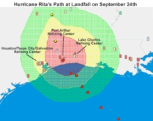 Hurricane Rita - the center went right over our home.