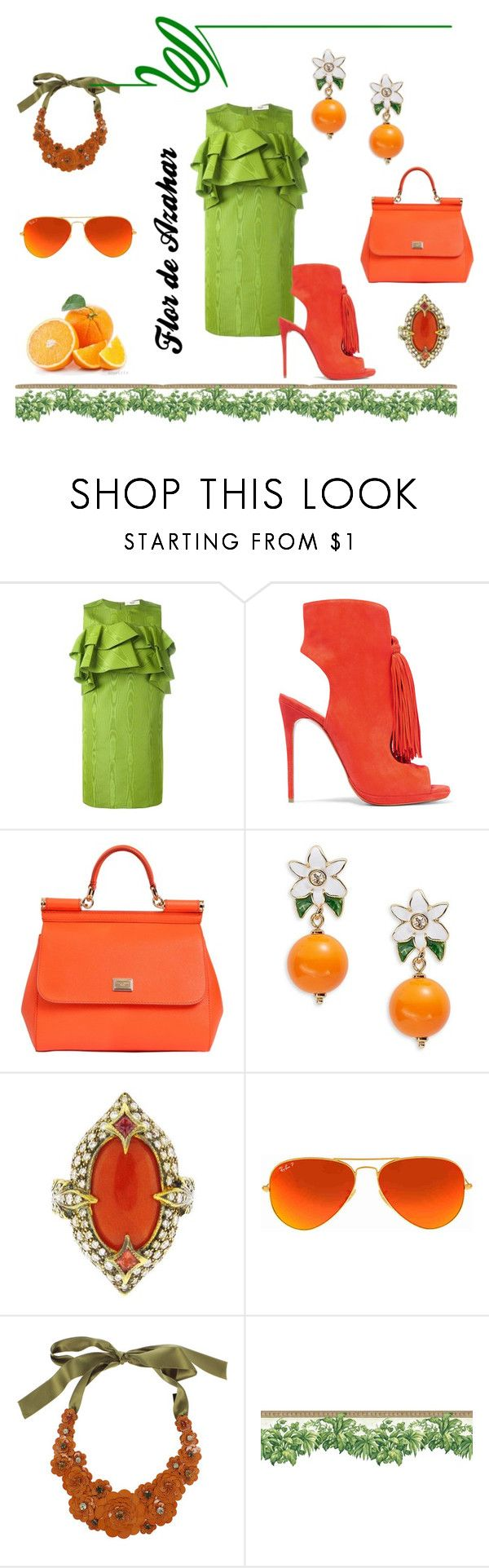 """Flor de Azahar"" by flowerbud77 on Polyvore featuring moda, Bally, Christian Louboutin, Dolce&Gabbana, Kate Spade, Cathy Waterman, Ray-Ban y Liberty"