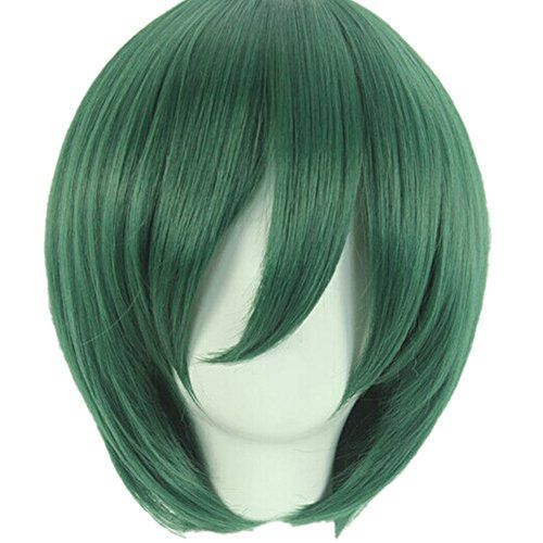Silvercell Boys Cosplay Party Costume Straight Short Full Wig Dark Green  //Price: $ & FREE Shipping //     #hair #curles #style #haircare #shampoo #makeup #elixir
