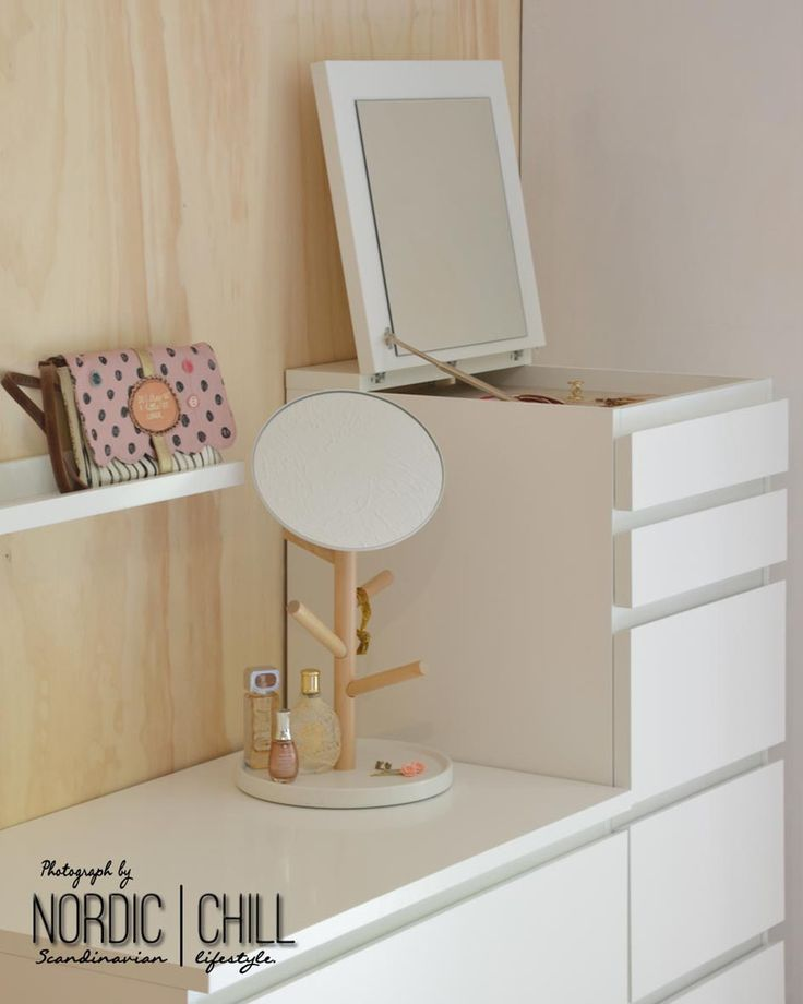 ikea malm drawer chest with mirror white