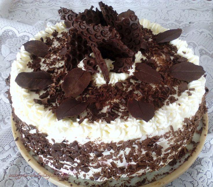 Tort Szwarcwaldzki + dekoracja z czekolady PRZEPIS