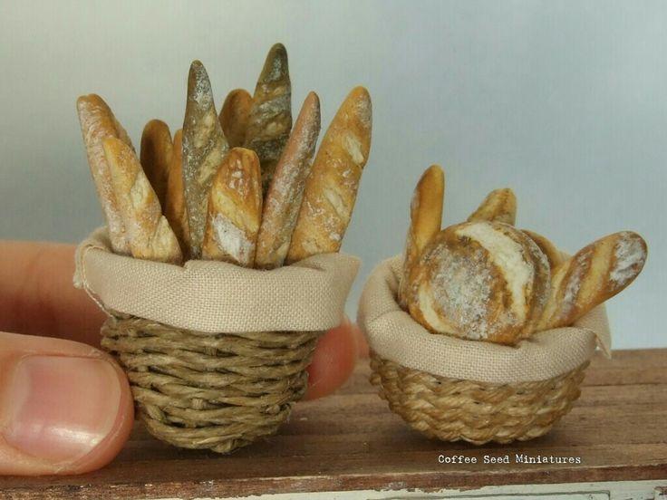 Miniature polymer clay bread