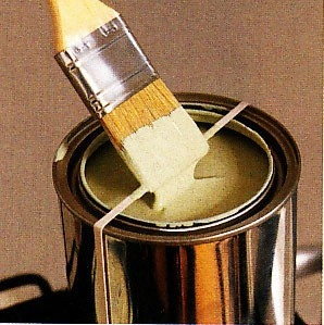 Use a rubber band around your paint can to keep the rim from filling up with paint.