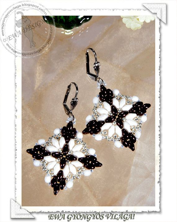 This tutorial will teach you how to make Loretta earrings. You will receive PDF file with step by step photos. Language :This pattern is made with