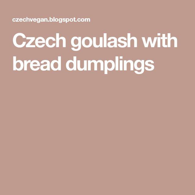 Czech goulash with bread dumplings