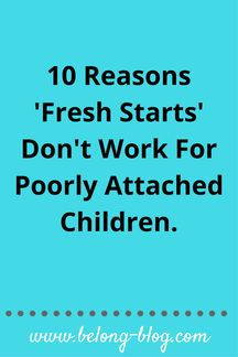 Why I Don't Give My Kids Fresh Starts (for foster care and adoption)