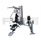 Force USA Corporate Multi Gym with Leg Press Attachment  Features:  - 100kg weight stack - Adjustable weight ratio. 100kg weight stack can become up to 200kg resistance. - Heavy Duty construction design ideal for corporate / resort / hotel / club use - Lat Pulldown (with padded rollers to hold knees in place) - Low Row - Ab-Crunch - Chest Press - Pec Fly   For more info visit: http://www.gymandfitness.com.au/corporate-multi-gym-with-leg-press-attachment.html
