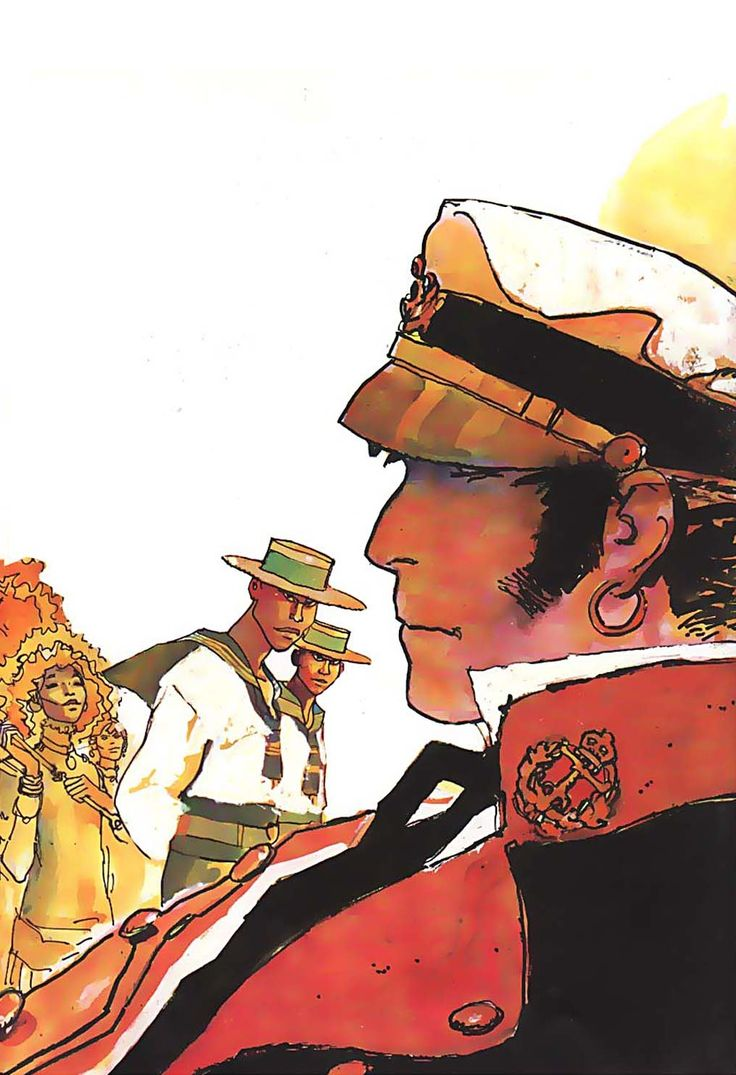"Corto Maltese, the laconic sea captain/adventurer during the early 20th century (1900-1920s). He is a ""rogue with a heart of gold"" - Created by Hugo Pratt in late 60's"