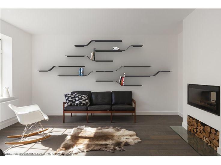 Étagère murale en aluminium enduit de poudre SET 15 by VIDAME CREATION design Julien Vidame