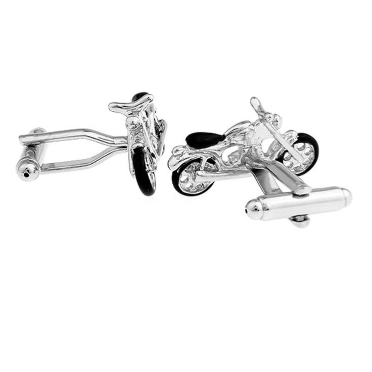 French Shirt Cuff Link Buttons-Motorcycle Design
