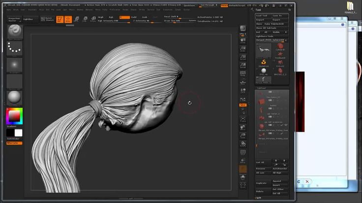 Zbrush Tutorial 19 Hair Sculpting Techniques