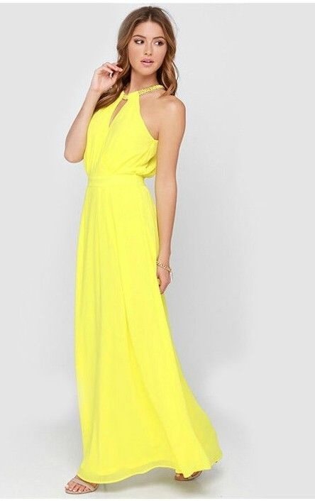 17 best ideas about yellow maxi dress on pinterest long for Yellow maxi dress for wedding