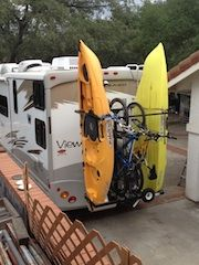 Marvelous COM   THE FIRST VERTICAL RV KAYAK RACK   YAKUPS ™ Brand