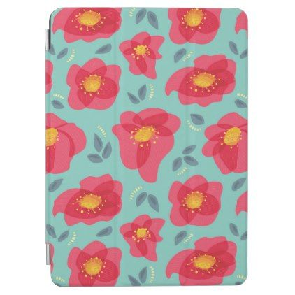 Pretty Floral Pattern With Bright Pink Petals iPad Air Cover -nature diy customize sprecial design